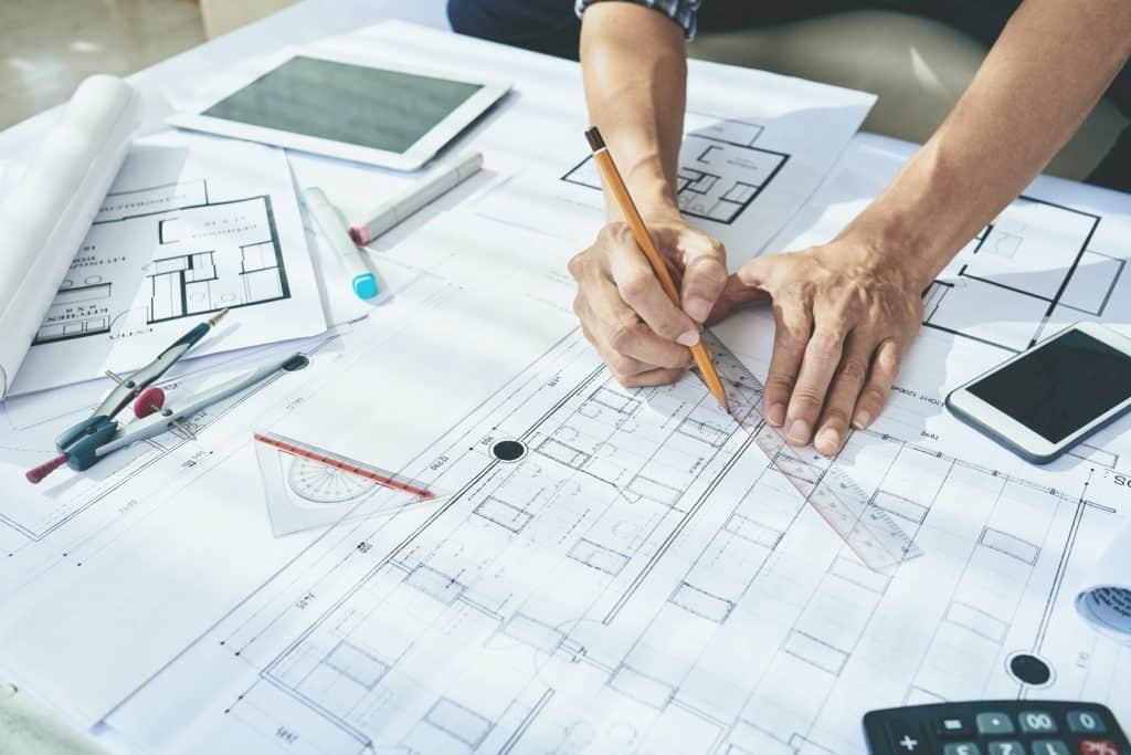 plan architecte projet de construction