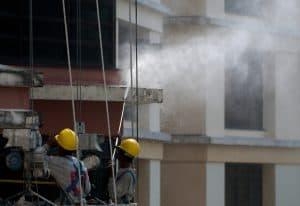 nettoyage de façade d'un immeuble