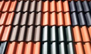 tuiles en fer colorées