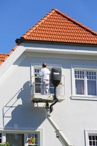 nettoyage de façade d'une maison