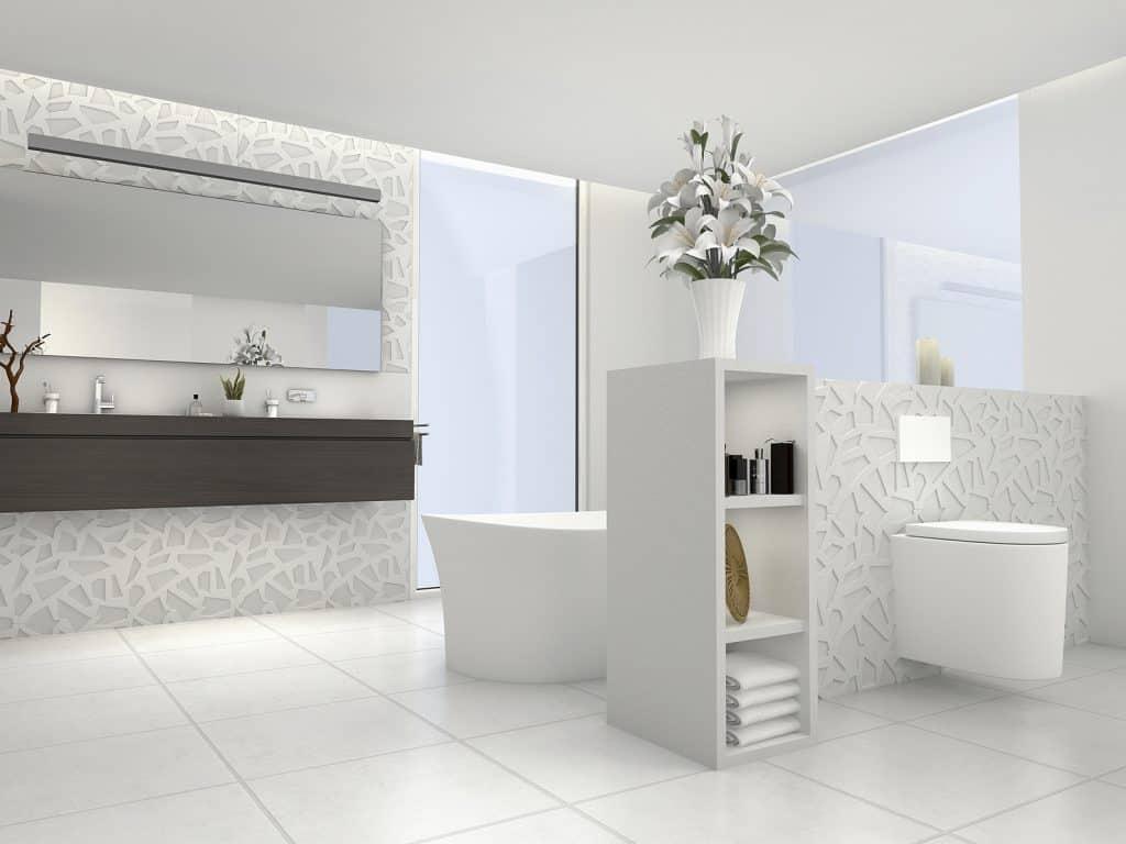 Classique des classiques, le blanc est indémodable pour une salle de bain