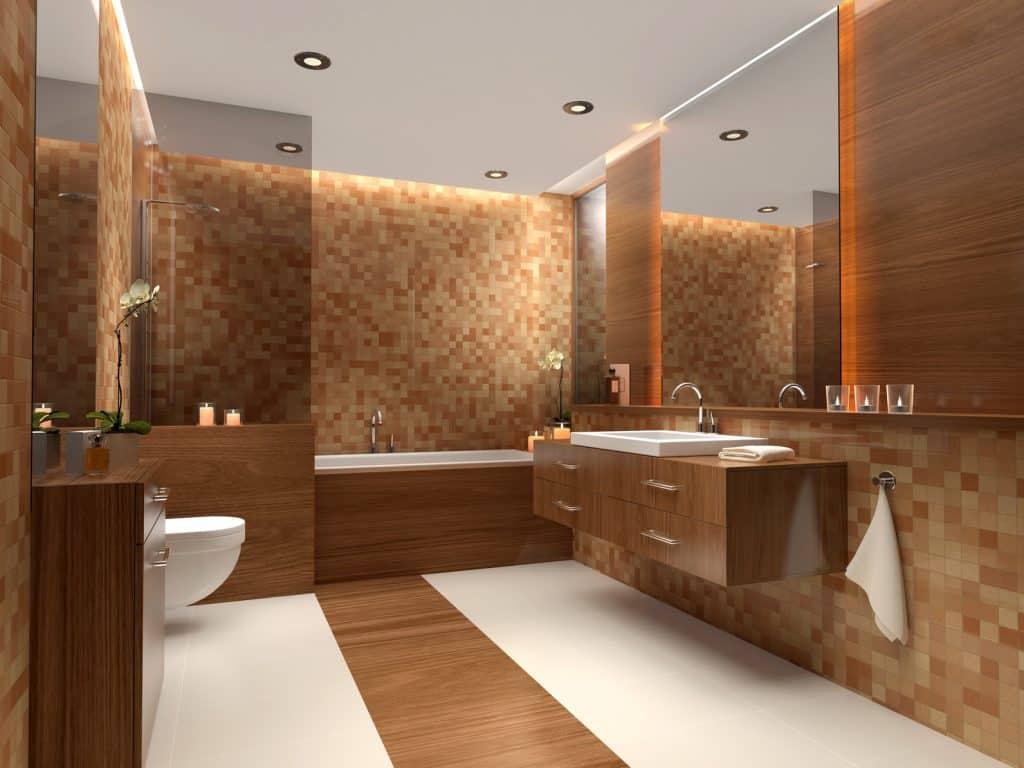 L'orange pour une salle de bain