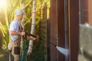 nettoyage des murs extérieurs